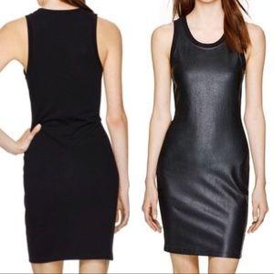 ARITZIA WILFRED - Black Leather Midi Dress